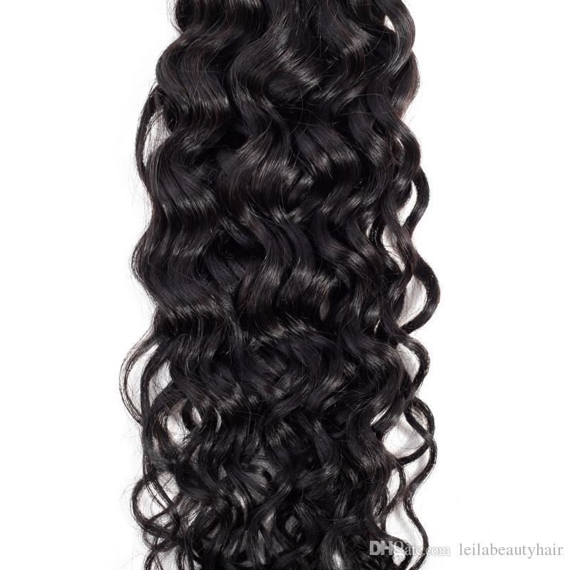 Brazilian Virgin Hair Mix Length 8~28inch Brazilian Hair Extensions Natural Color Human Hair Weaves Wavy Water Wave