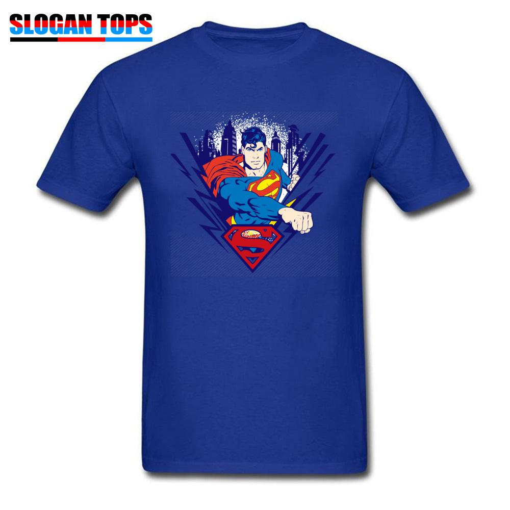 a469c2d739c Superman T Shirts Men Blue Tshirt Marvel Superhero Print Tops Comics Design Tee  Shirt Plus Size T Shirts Cotton Fabric Clothes Graphic T Shirt Design Own T  ...
