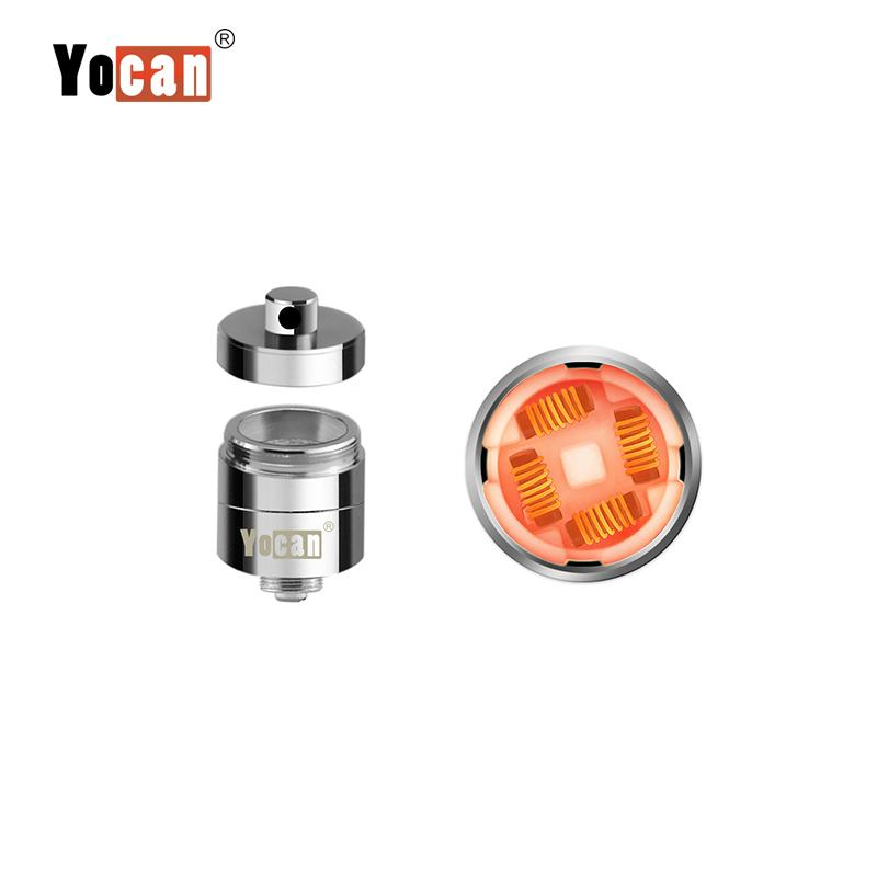 Original E cigs Yocan Evolve Plus XL Vaporizer Kit Wachs Trockene Kräuter QUAD Spulen 1400 mah Dual Silikondose Vape Pen
