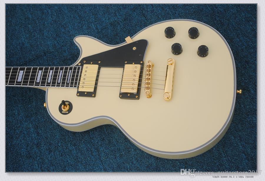 Best Guitar Brand New Custom Model Large Diamond Inlay On The Headstock  Ebony Fingerboard Top Quality Cream
