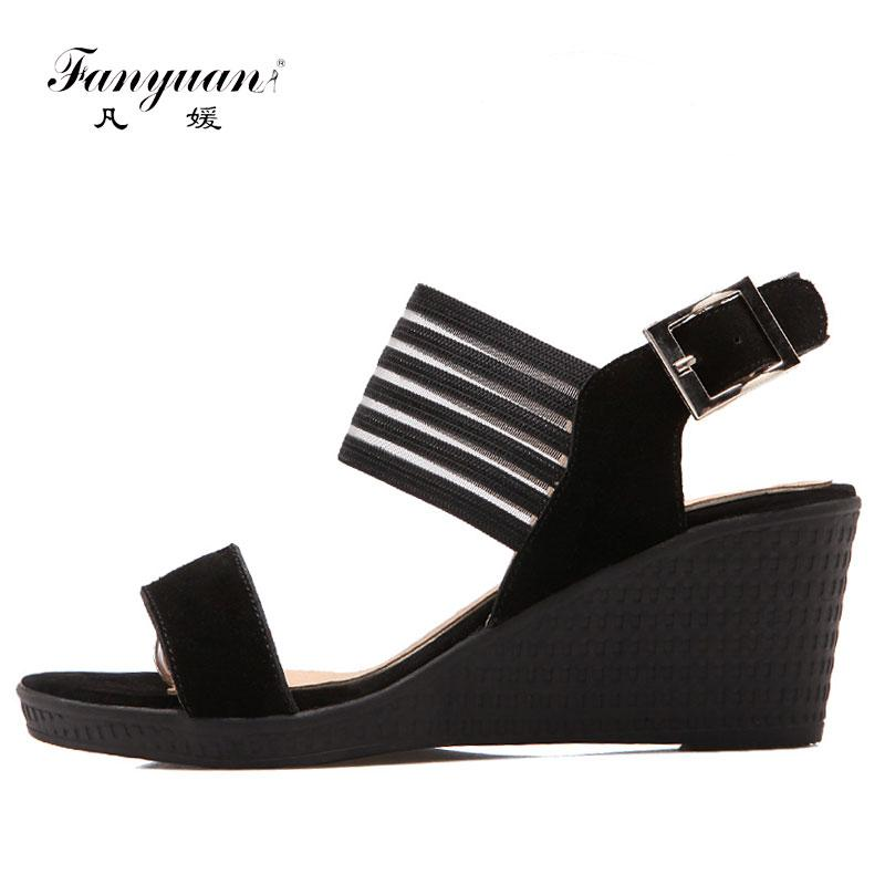 0f9024f66b 2017 New Arrivals Fashion Wedges High Heels Platform Dress Shoes For Women  Sexy Casual Summer Dress Sandal Hot Sale Sandles Wedge Booties From Drdre