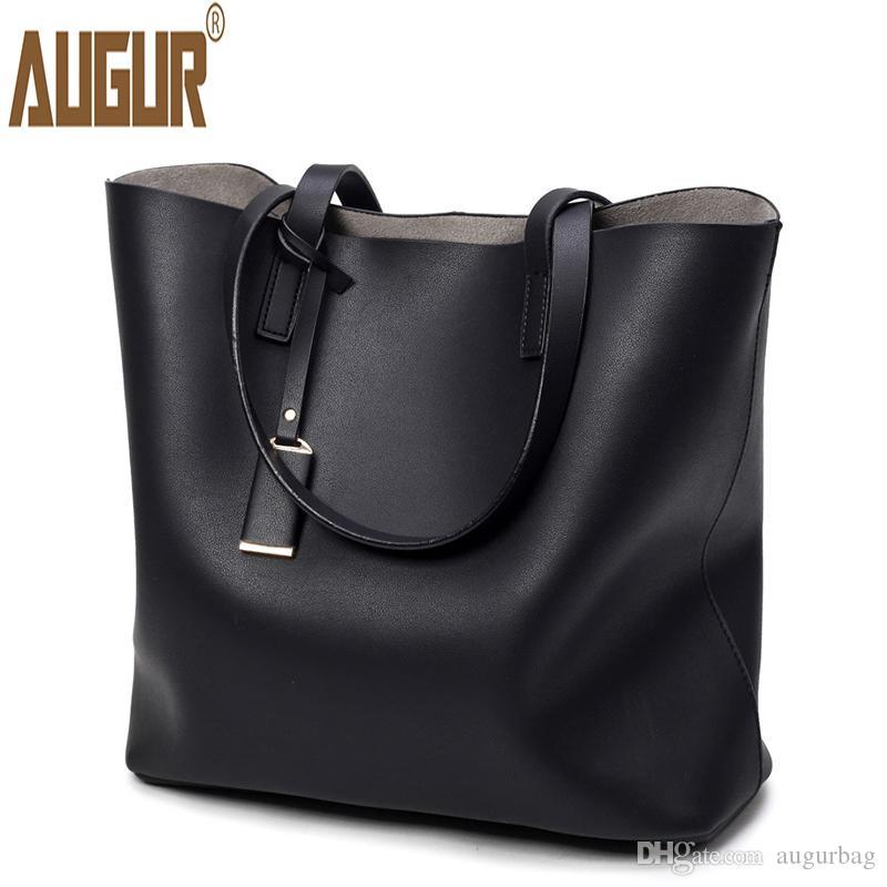 fe926c773b7b AUGUR Soft Leather Handbags Women Composite Bag High Quality Casual Female  Bags Trunk Tote Brand Shoulder Bag Ladies Large Bolso Bags For Sale  Handmade ...