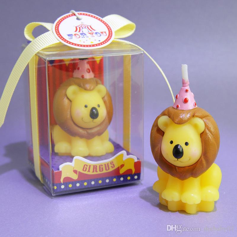 Flashing toy Magic candle Creative birthday candle animal shape smokeless candle baking cake decorating bear lion elephant