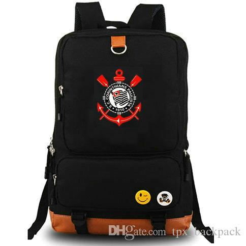 926ddeb5f7 Corinthians Paulista Club Backpack Cool Team Day Pack Football School Bag  Soccer Packsack Quality Rucksack Sport Schoolbag Outdoor Daypack Messenger  Bags ...