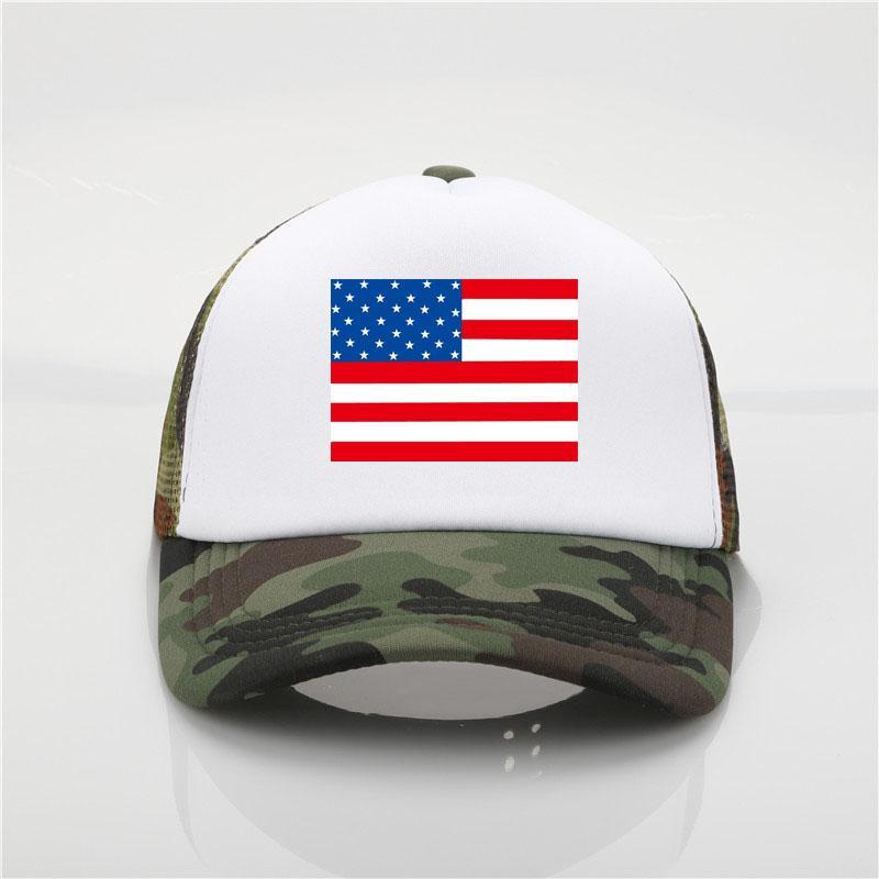 f2a59226d8b United States Flag Logo Baseball Cap USA Patriotic Cap Sport Soccer ...