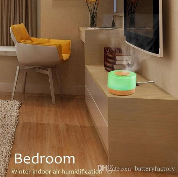 500ml Remote Control Ultrasonic Air Humidifier Fogger Aromatherapy Diffuser Essential Oils Nebulizer Timer Settings LED Aroma Lamp for Home