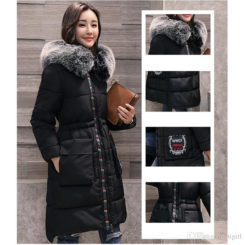Woman Winter Clothes Hooded Slim Women Coat Warm Female Thick Jacket Slim Long jackets plus size coat outerwear female ladies clothing
