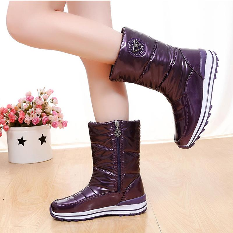 High quality women boots 2017 new arrivals waterproof thick plush women winter shoes slip-resistant platform snow boots