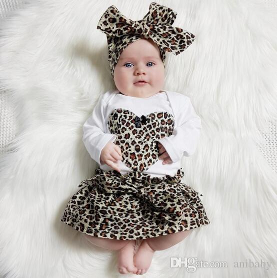 Spring new kids leopard love heart romper & infant tutu skirt & headband Suit Boys Outfit bow tie shirt+ stripe casual pants Boy Suit A08