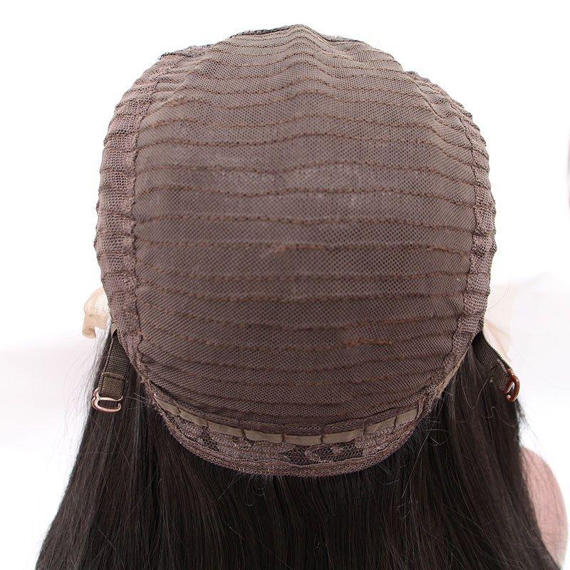 Partie moyenne partie naturelle longue perruque blanche perruque haute température en fibre synthétique perruque avant de lacet pour femmes blanches