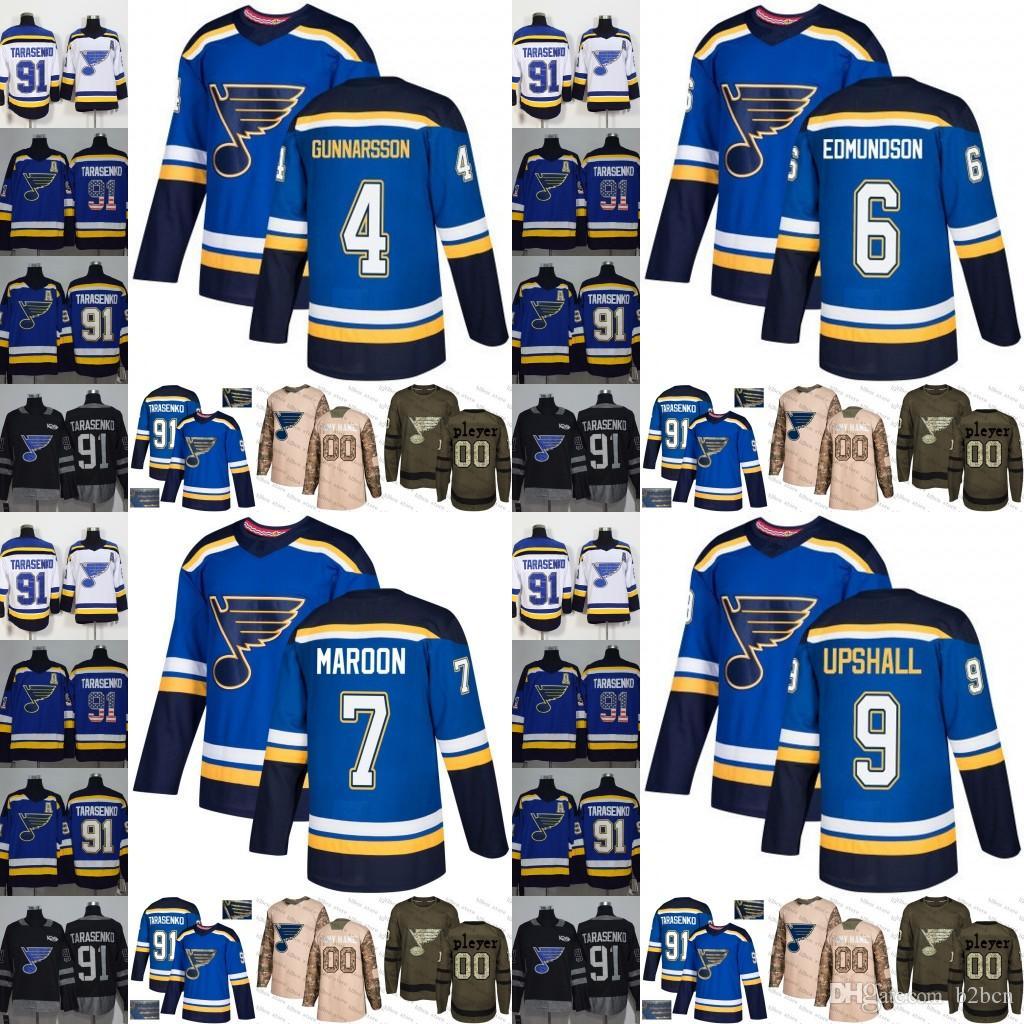 2019 2019 St. Louis Blues Men Womens Youth 4 Carl Gunnarsson 6 Joel  Edmundson 7 Patrick Maroon 9 Scottie Upshall Hockey Jerseys Stitched S 3XL  From B2bcn c2d2c9f5f