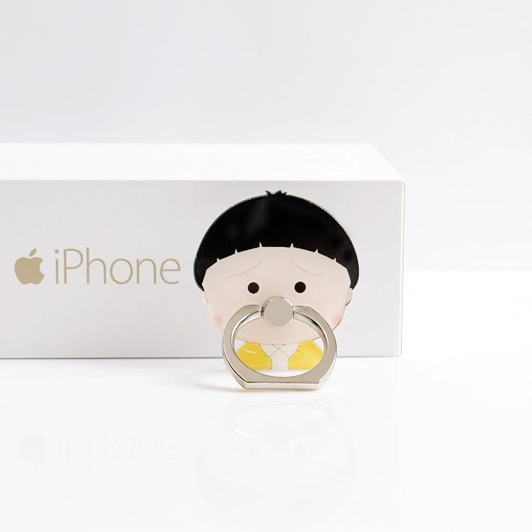 Универсальный 360 градусов милый мальчик палец кольцо держатель телефона милая девушка кольцо стенд для iPhone X Samsung Huawei телефоны