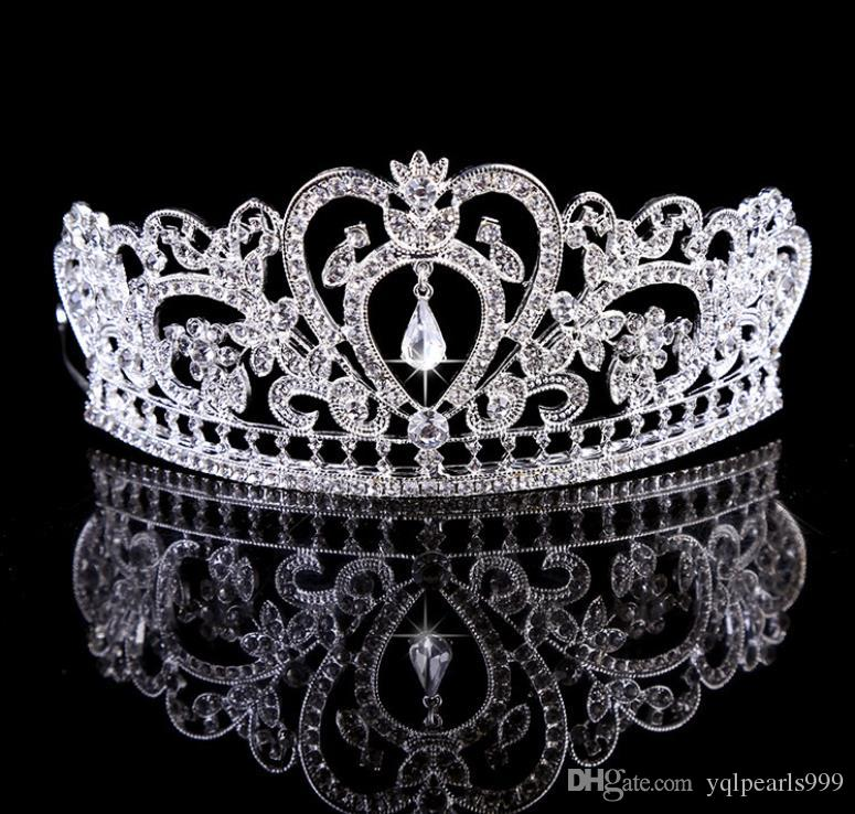 Alloy water drill ornaments bridal crown crown ornament