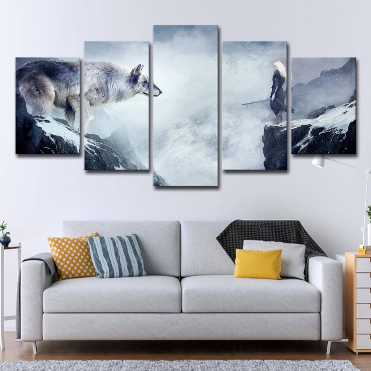 Modular HD Printing Canvas Pictures Home Decoration Frameless ...