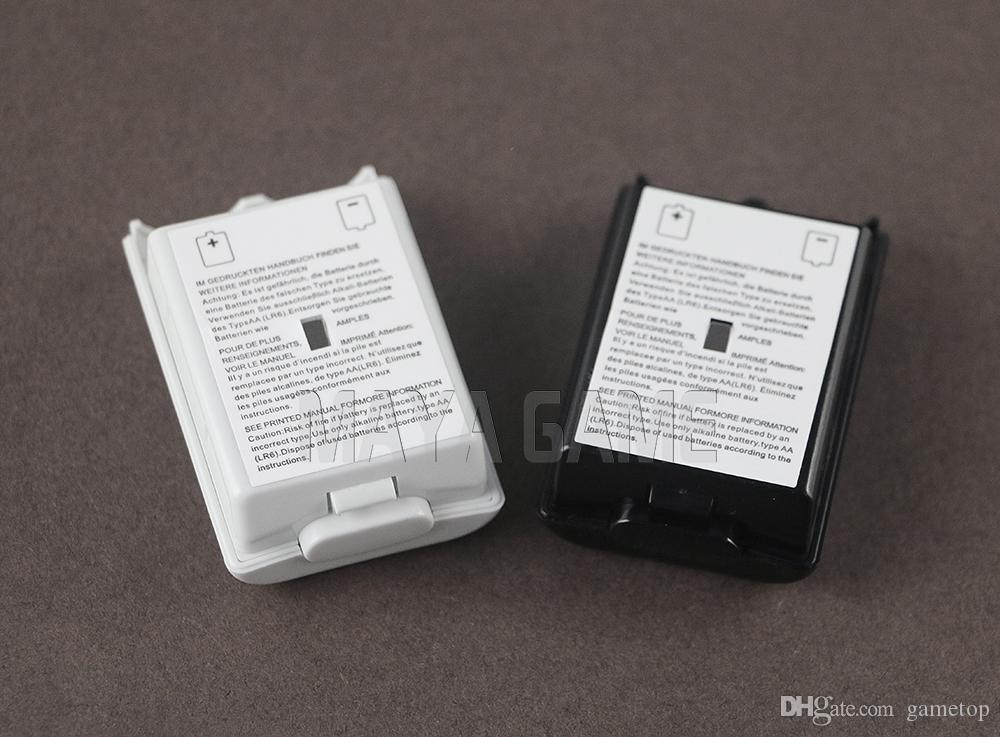 أسود أبيض غطاء البطارية حزمة شل شل حالة كيت ل XBOX360 / Xbox 360 Wireless Controller استبدال أجزاء