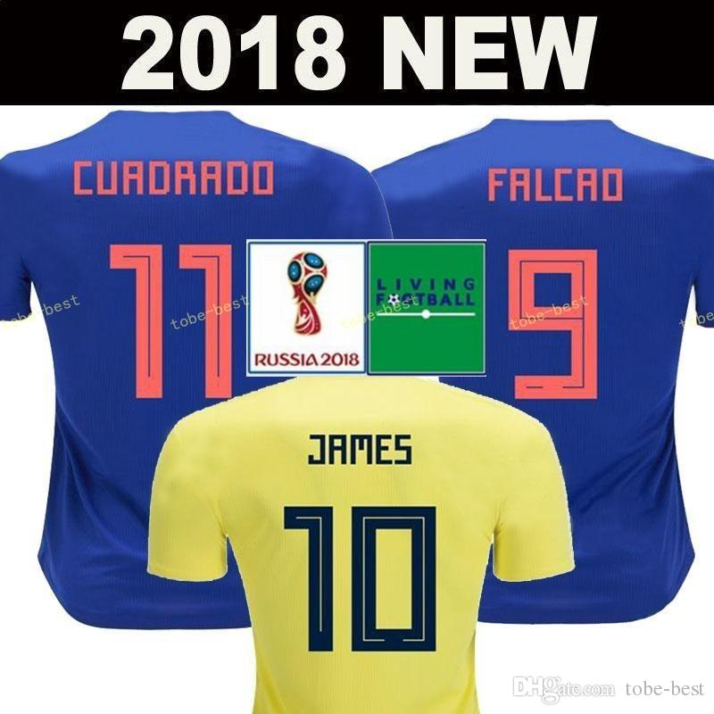 3bec7a659ad 2019 Top Thailand National JAMES 10 COLOMBIA Soccer Jerseys 2018 World Cup  Jersey FALCAO CUADRADO BACCA Football Soccer Shirt Camisetas Maillot From  Tobe ...