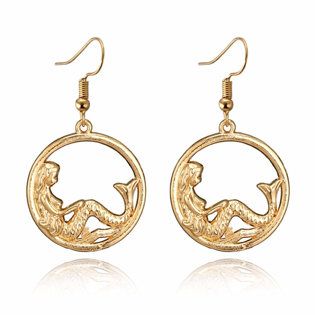 Shellhard Mermaid Pendant Earring Fashion Charm Geometric Dangle ... b005ad510138