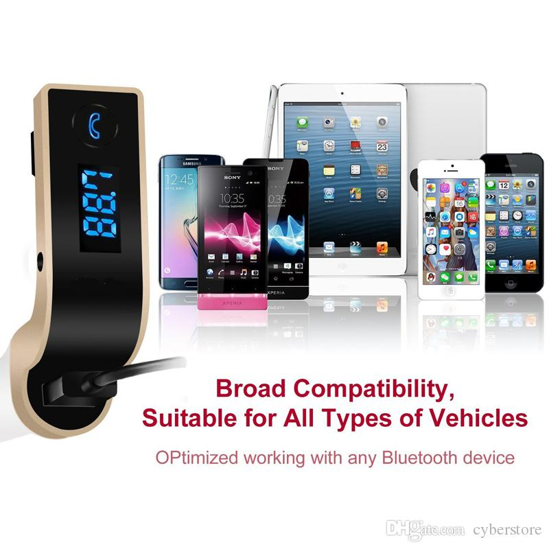 Original G7 FM Transmitter Multifunction 4-in-1 CAR Bluetooth with USB MP3 Player flash drives TF Radio with LCD Display Mic Hot sell