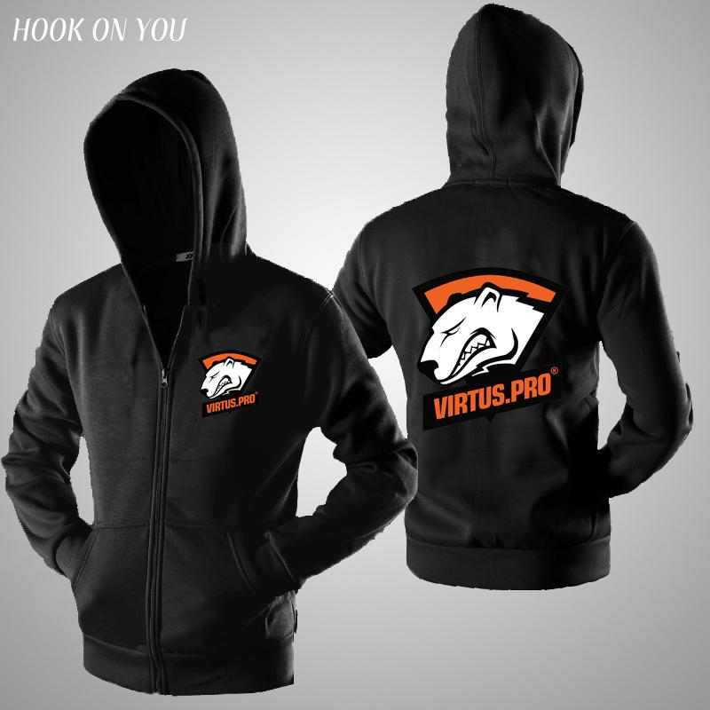Dota2 LOL CSGO Gaming Team Virtus Pro VP zipper hoodies sweatshirt flee  warm hoody man casual jacket coat clothing