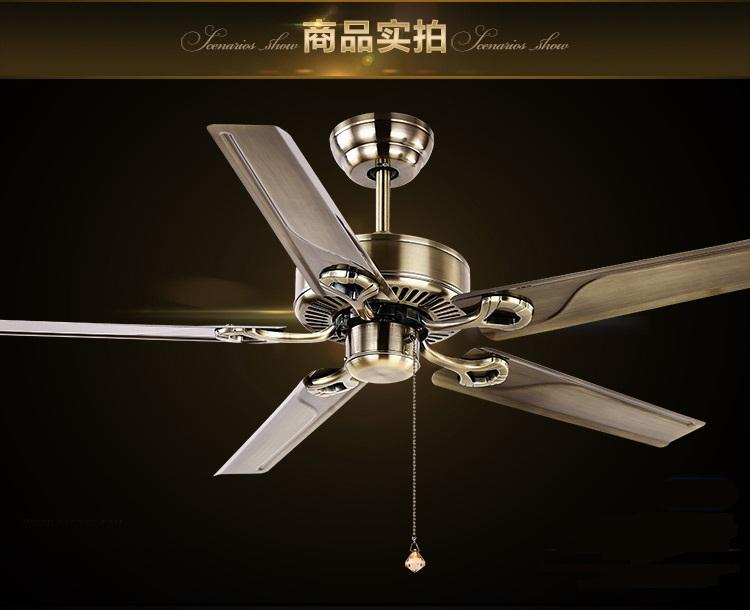 2019 52inch Continental Antique Ceiling Fan Without Lights Fan Lamp
