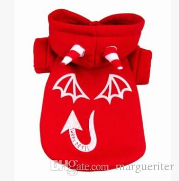 Halloween Devil Pet Dog Clothes Halloween Glow At Night Dog Costumes Winter Warm Dog Cosplay Sweater Apparel
