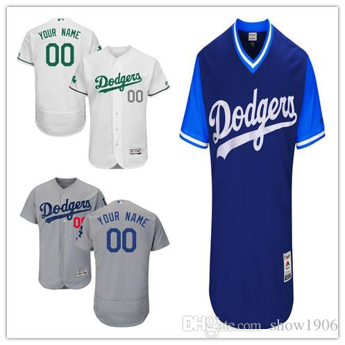 2018custom Men Women Youth Dodgers Jersey  00 Any Your Name And Your Number  Home Blue Gray White Nary Blue Black Kids Girls Baseball Jerseys UK 2019  From ... 8714dea0c