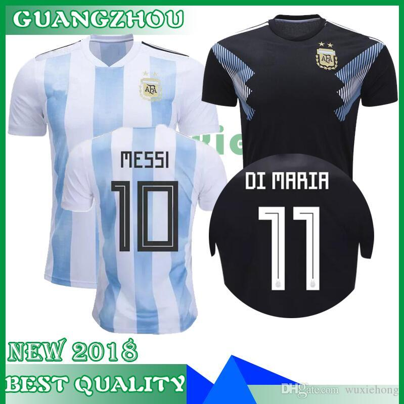296f89036ab 2018 2019 World Cup Argentina Soccer Jersey 18 19 MESSI DI MARIA AGUERO  KOMPANY DYBALA Higuain Home Blue Jerseys Uniforms Football Shirts Canada  2019 From ...