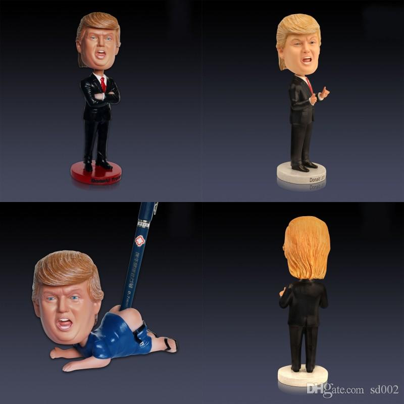 Donald Trump President Make America Great Again Car Decoration Bobblehead Resin Novelty Doll Crafts Home Ornament Toy 68mr hh