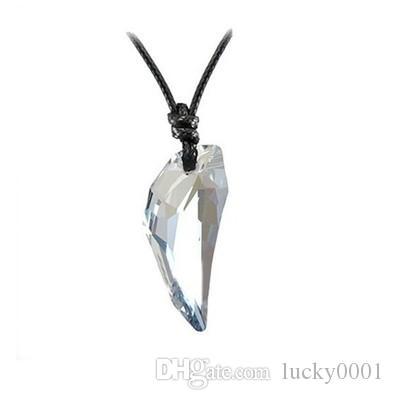 Австрийский Кристалл волк цепи кулон зуб ювелирные изделия мода классический мужчины и женщины Кристалл ожерелье ногтей 10 цветов
