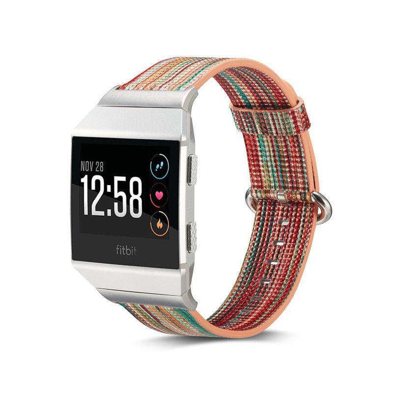 Uhrenarmband Für Fitbit Ionic Smart Uhrenarmband Bunte Echtleder Uhren Bands Ersatz Freies DHL