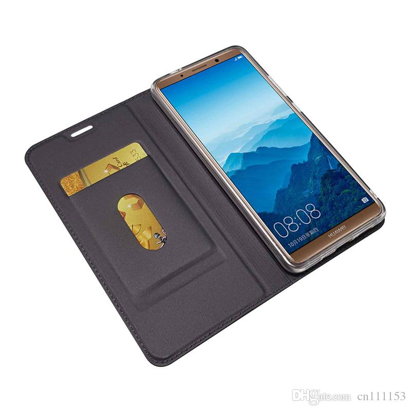 Wholesale PU Leather Case For Huawei Mate 10 Lite Mate 10 Pro Mate 9 Pro 9 Lite Card Holder Flip Magnetic Solid Colored