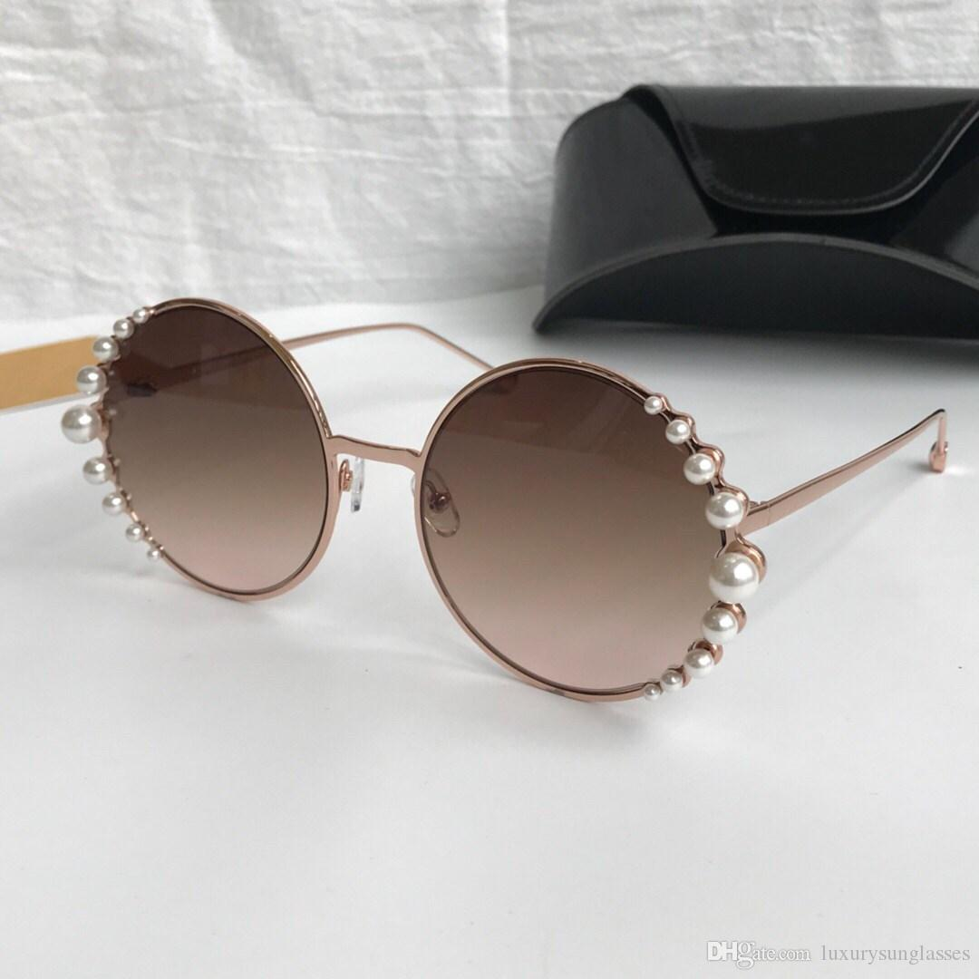 533a71e88b3 Luxury 0295 Sunglasses For Women Designer Charming With Pearl Woman Fashion  Round Sunglasses Top Quality Uv Protection With Original Package Kids  Sunglasses ...