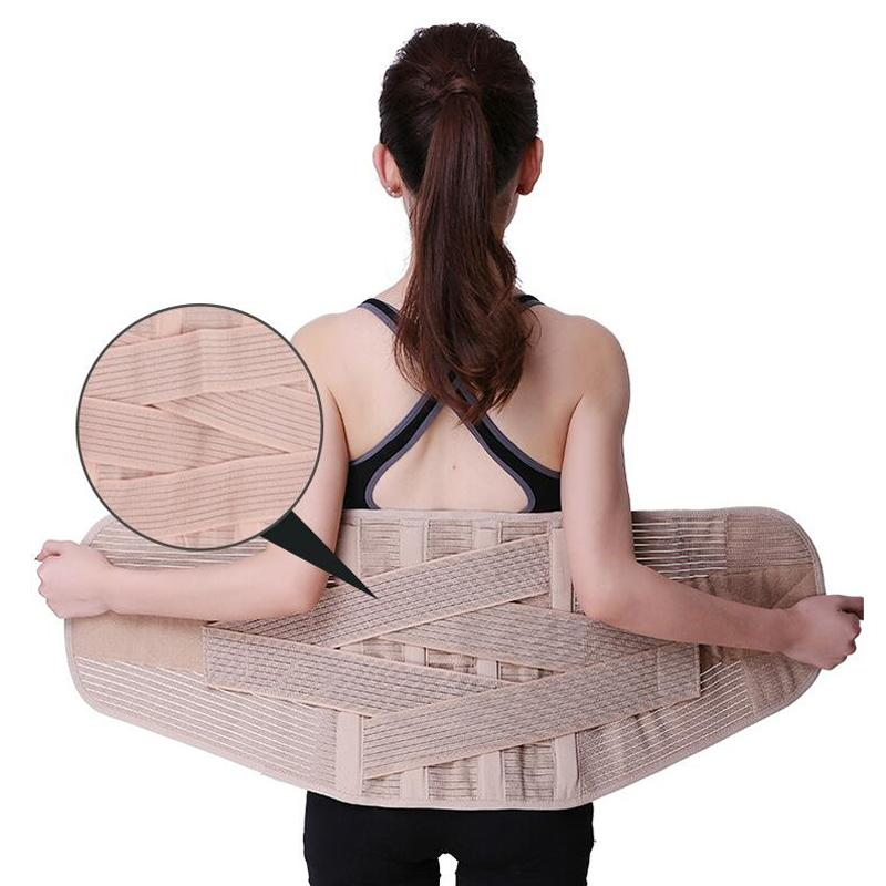 350d2fa444f 2019 Women Waist Support Lower Back Brace Waist Belt Spine Support Men  Belts Breathable Lumbar Corset Orthopedic Back From Hougo
