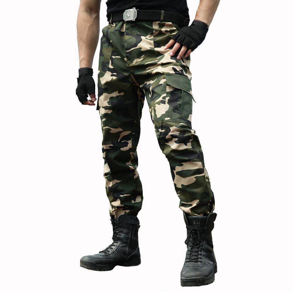 f109f332ea87 Acheter Cargo Pantalons Hommes Salopettes Style Militaire Pantalon De  Travail Pantalon Tactique Armée Hommes Vêtements De Travail Airsoft  Paintball ...