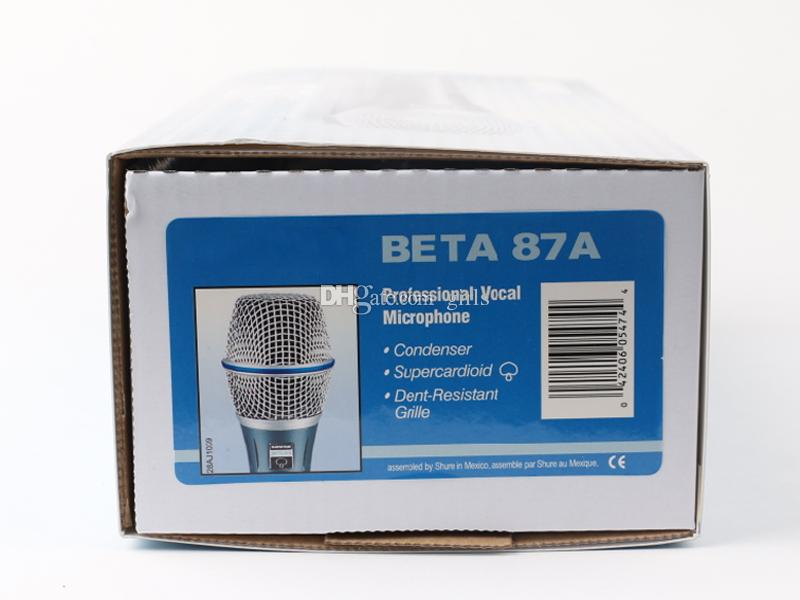 Beta 87A Supercardiod Condenser Vocal Microphone Legendary Performance 87 A Professional Handheld Wired Mic Portable Karaoke with Pacakge