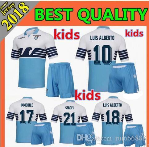 8c6965ea071 2019 Kids Kit 2018 Lazio Soccer Jerseys 18 19 F.ANDERSON LUCAS KISHNA BASTA  D JORD JEVIC KEITA IMMOBILE LULIC Home Away Football Shirts From Rui666888