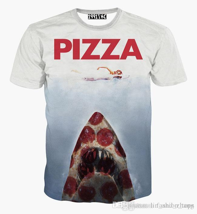 Tshirt Pizza Letter T Shirt For Men/Women 3d Tshirt Funny Print Swimming  Women On Shark Hip Hop Graphic T Shirt Mens Shirt Printed Shirts From  Lin_and_zhang ...