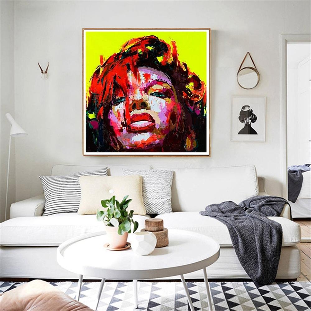 Großhandel Handgemachte Afrikanische Frau Wand Kunst Leinwand Malerei  Portrait Gesicht Abstrakte Artwork Für Wohnzimmer Wand Dekor Office Home  Dekoration ...