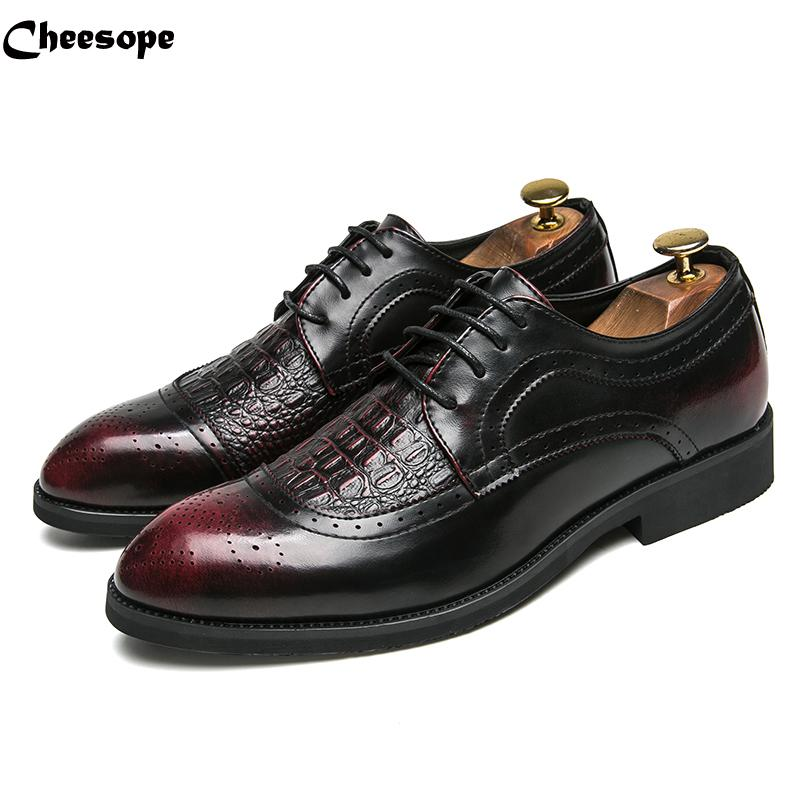 Plus Size Luxury Men Formal Business Leather Shoes Men Elegant