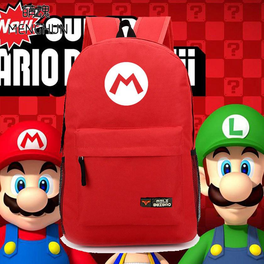 c923ab9b82 Super Mario Brothers Concept Nylon Backpacks Mario Red Backpacks ...