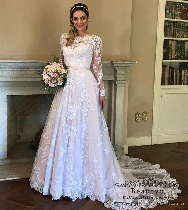 Discount Princess Plus Size Wedding Dresses With Long Sleeves