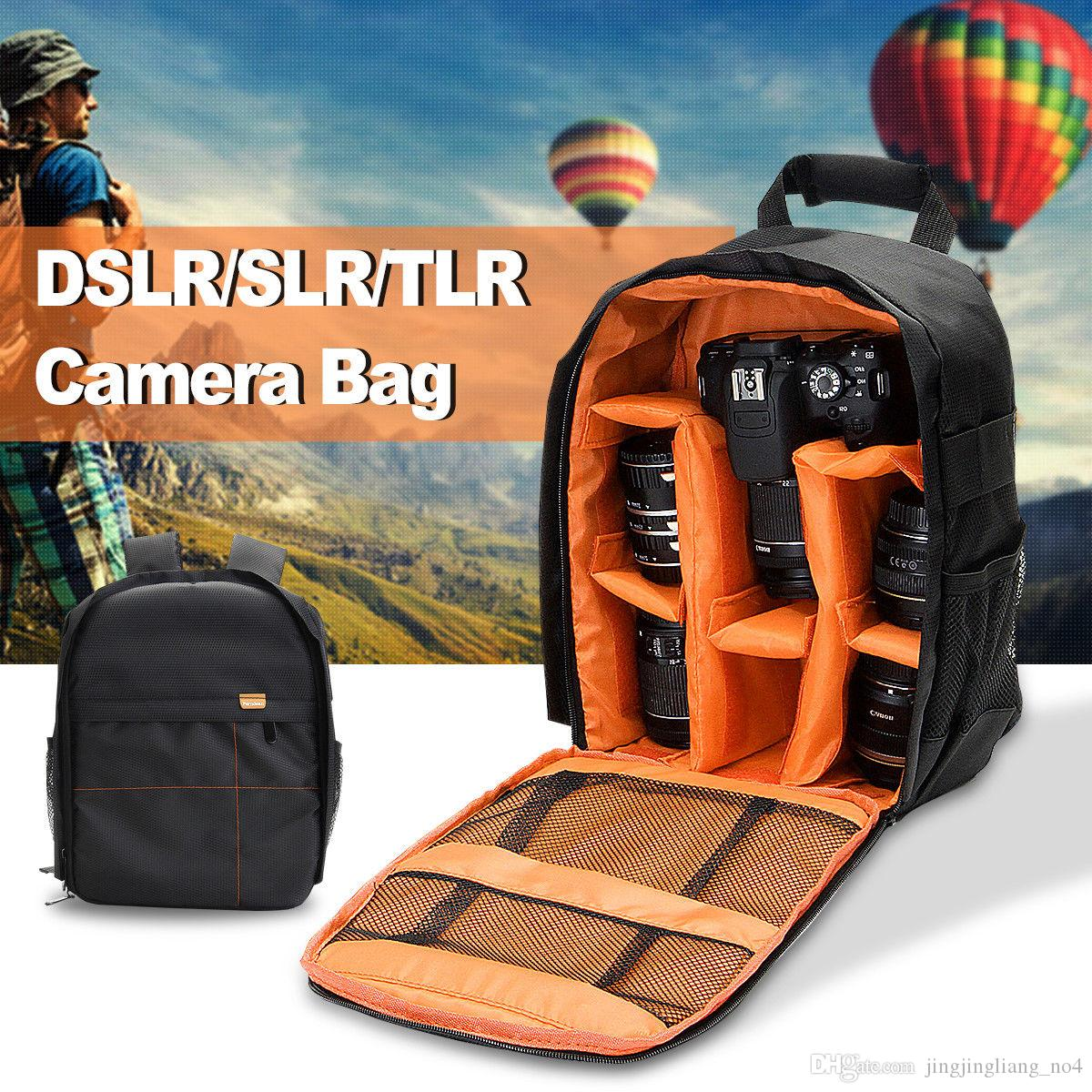 Waterproof Digital Camera Bag DSLR Video Backpack Small SLR Camera Rucksack for Nikon Canon Fujifilm Sony Cameras LJJM43