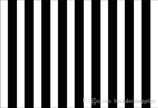Acquista 7x5ft Verticale Bianco Nero Strisce Parete Personalizzata