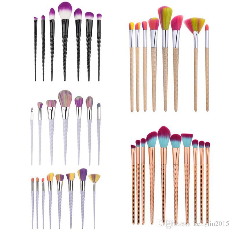 Hot Make up Brushes Sets Kit Black White Gold Eyeshadow Foundation Eyes Brush Cosmetic Tool Makeup Brushes