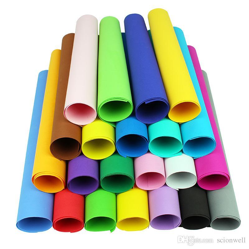 24 pz un pacco 1mm spessore A4 fogli di schiuma Eva, Craft, progetti scolastici, facile da tagliare, foglio di perforazione, materiale fatto a mano