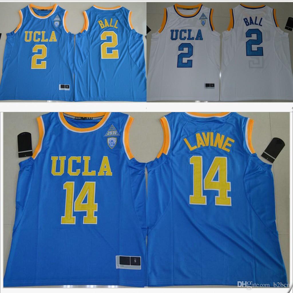 00323a56f Купить Оптом Ucla Bruins # 2 Lonzo Ball 14 Zach Lavine Pac 12 Мужская  Американская Коллегия Сшитая Вышивка Баскетбольная Форма Рубашки Спортивная  Команда ...
