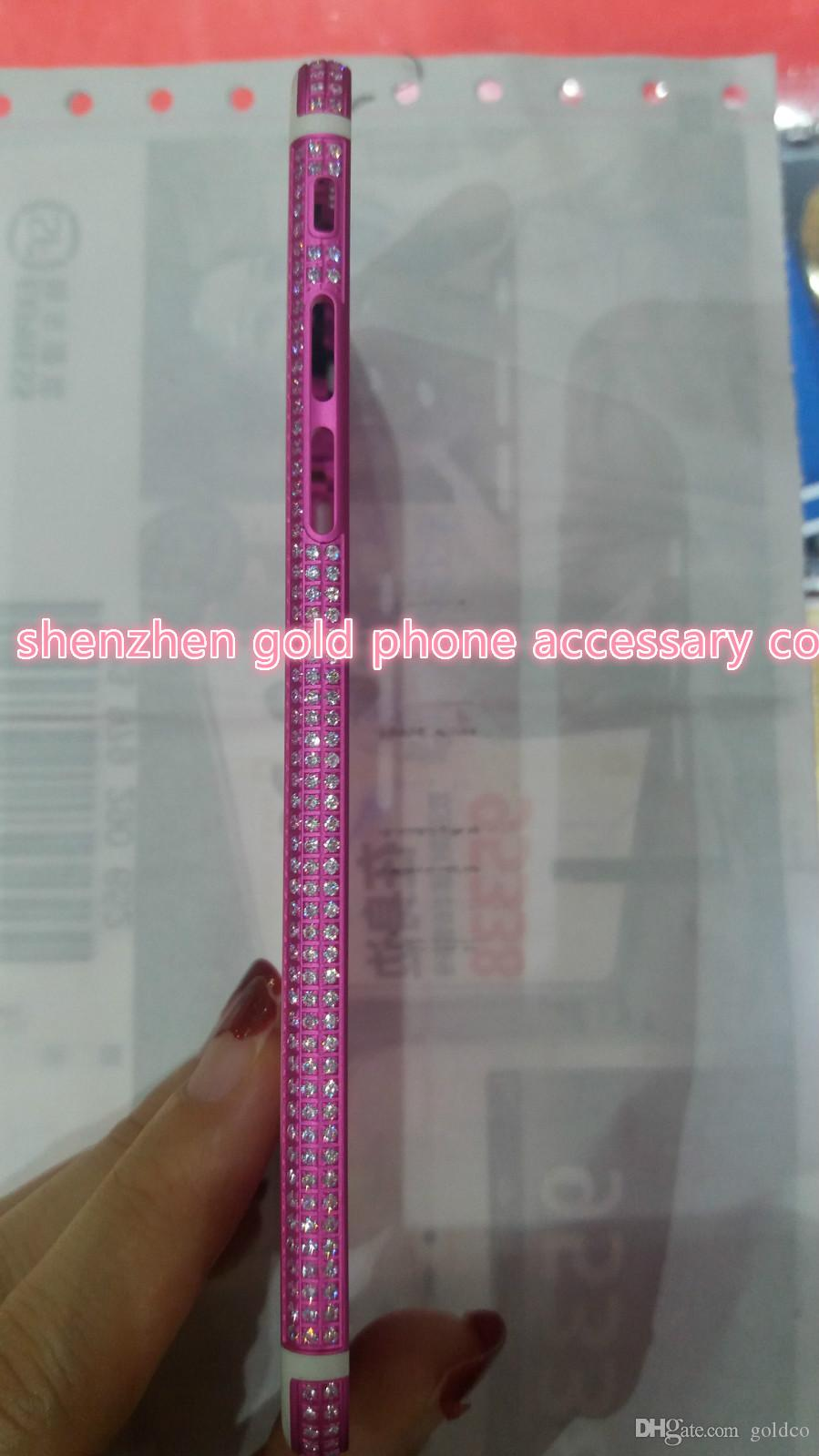 2018 real pink gold pink DIAMOND crystal Plating Battery Back Housing Cover Skin for iPhone 6 24kt 24ct Limited pink crystal cases