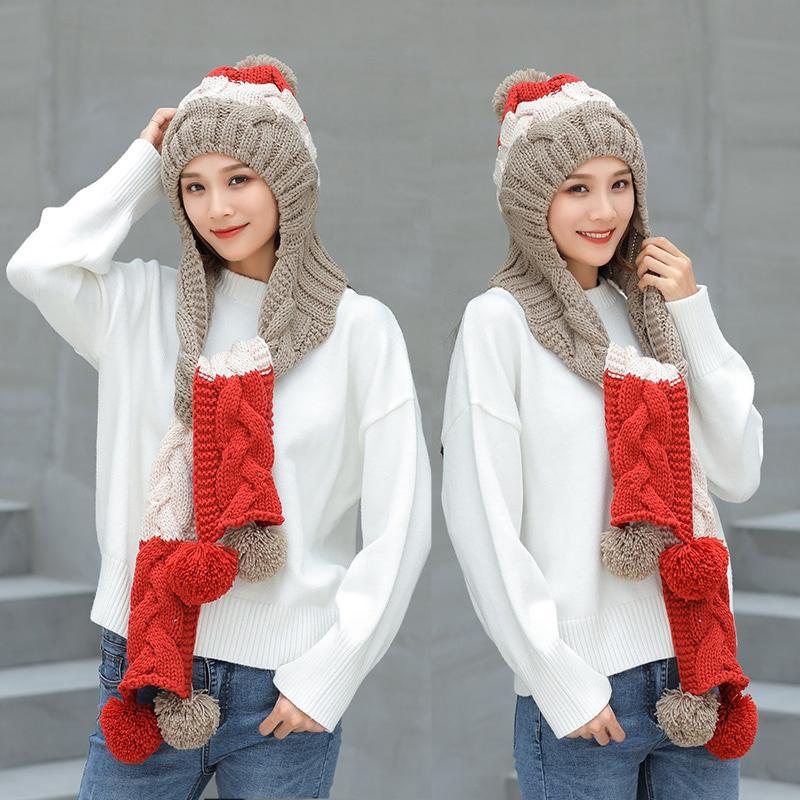 Compre 2018 Nuevo Sombrero De Invierno Muchacha Conjunto Caliente Lindo  Casquillo Del Ganchillo Sombrero De Punto Bufanda Pompon Gorros Mantón  Tejido Sólido ... e0fe162467a