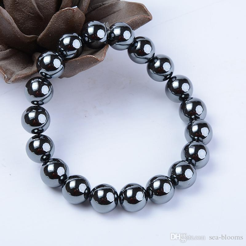 2018 Hot Sale Charm Black Magnetic Hematite Stone Therapy Bead