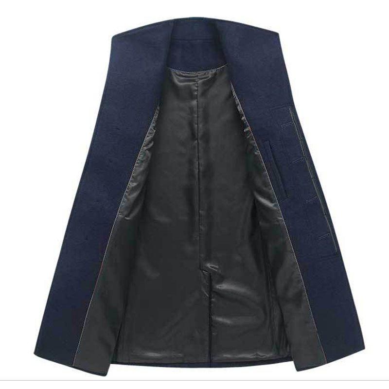 2018 New Men Winter Coat For Mens Overcoat Male Long Wool Coat Men Peacoat Jackets Duffle Coat Cashmere Warm XXXL